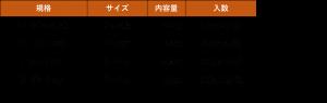 冷凍椎茸規格表