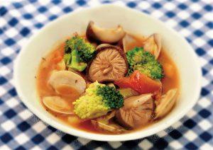 3種の旨味がぎゅっと!干ししいたけいりトマトスープの画像